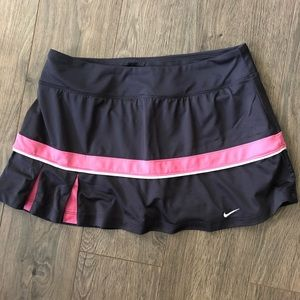 Nike Gray and Pink Pleated Skort